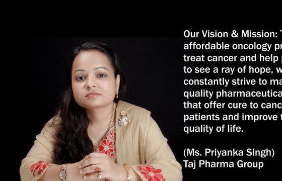 Working For a healthier world (Ms. Priyanka Singh) Taj Pharma Group  Taj Agro Products